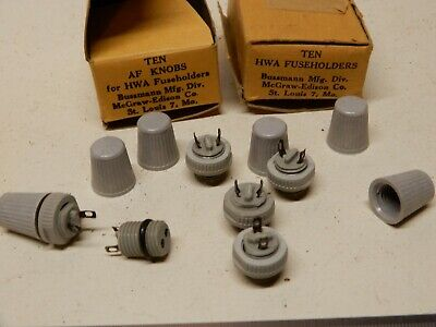 Bussmann Mfg Hwa Fuse Holders And Caps Qty 5