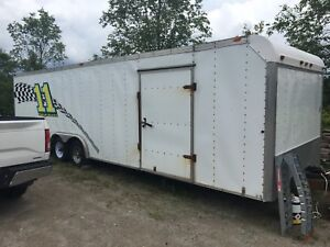 28 ft hallmark race trailer for sale