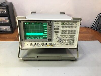 Hp Agilent Keysight 8563e 30 Hz - 26.5 Ghz Spectrum Analyzer Options 1 6 7 8 26