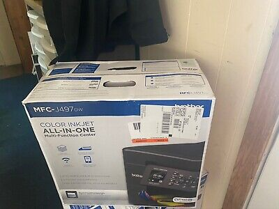 Brother Compact MFC-J497DW Wireless InkJet All-In-One Color Printer NEW