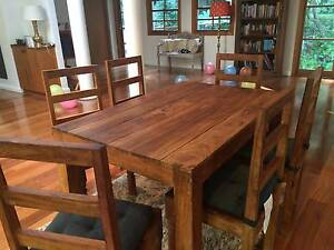 Sheesham hardwood table and 6 chairs Coogee Eastern Suburbs Preview