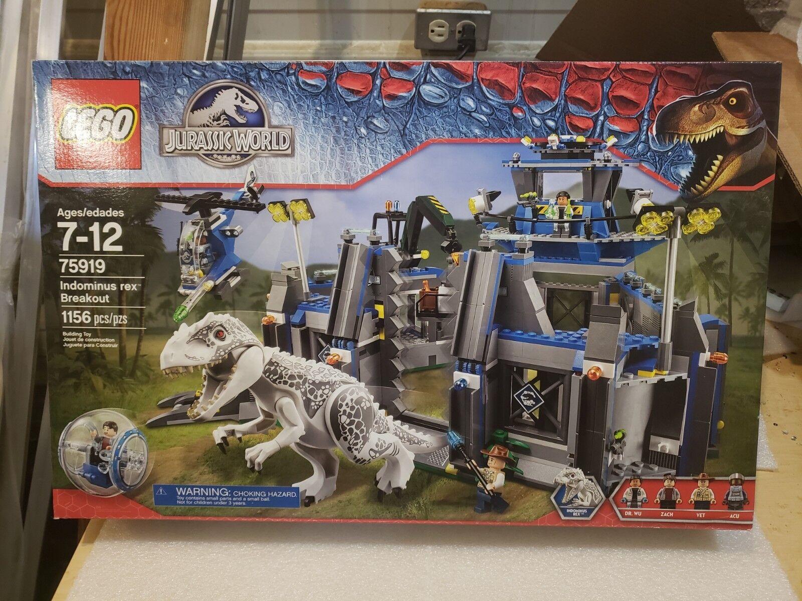 Breakout Jurassic 75919 Lego Rex Retired Indominus Nisb World oedCxrB