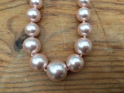 Jon Richard Pink Pearl Necklace