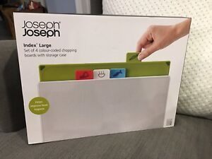 Joseph Joseph large index cutting boards with case