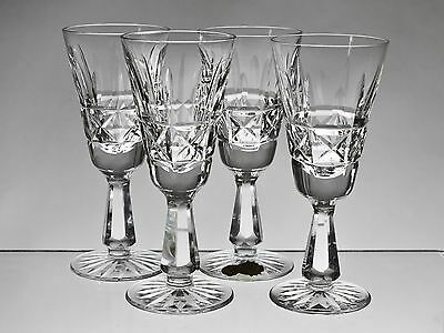 "cc432 SET 4 WATERFORD CRYSTAL KYLEMORE 5 3/8"" SHERRY GLASSES"