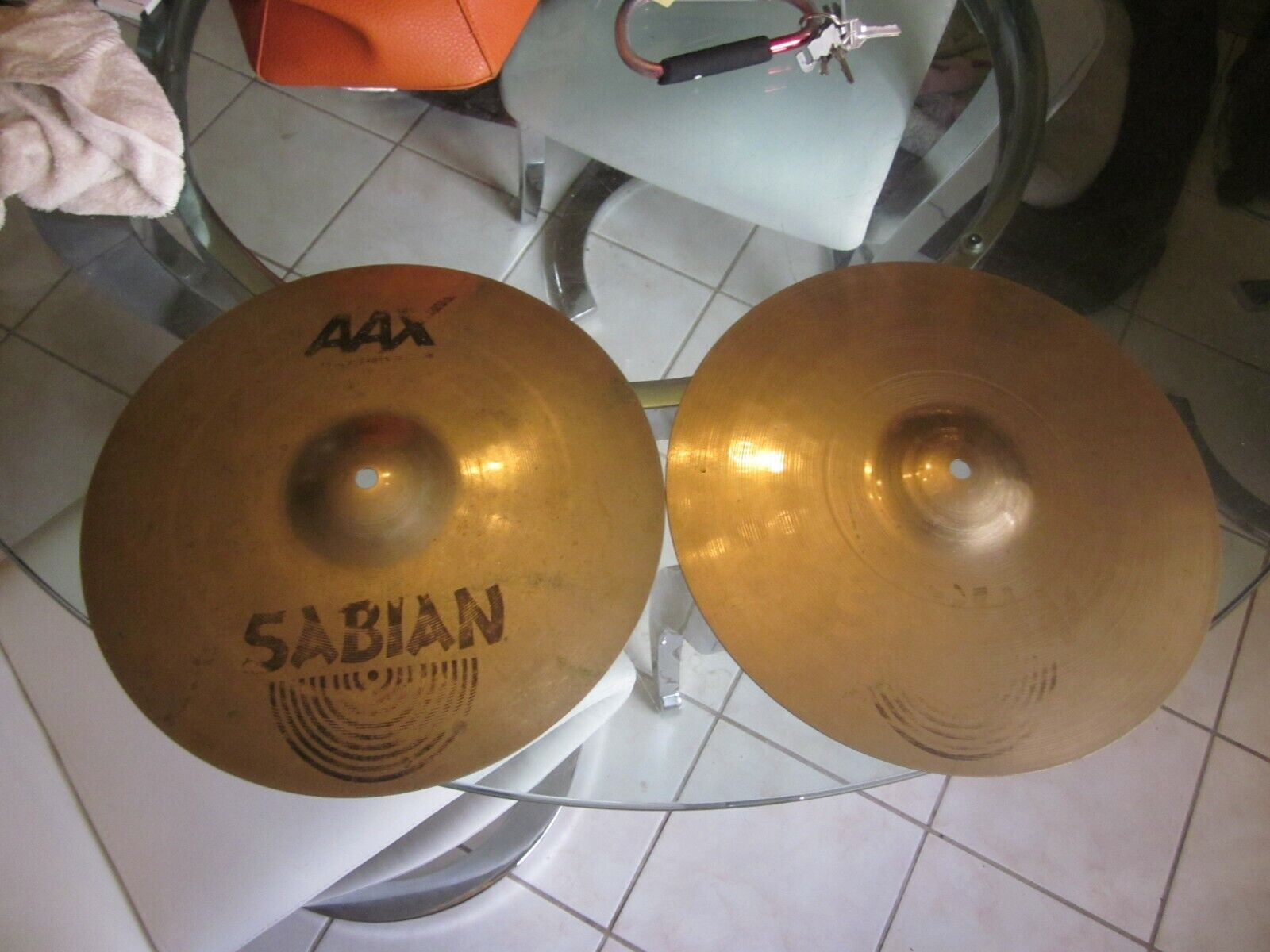 SABIAN AAX Metal Hi-Hats Older ones