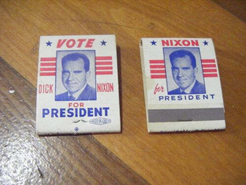 2 NOS  Vintage  Dick Nixon for President  Matches