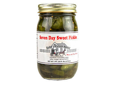 Seven Day Sweet Pickles - Byler's Relish House - 16oz Jar