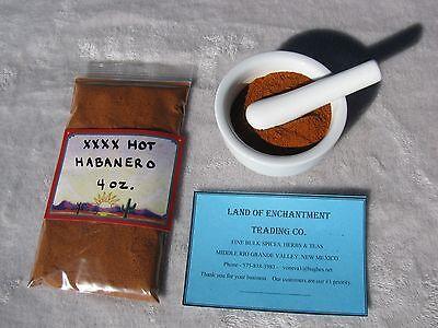 NEW MEXICO  XXXX HOT  HABANERO CHILE POWDER  4 ounces  Free USA Shipping for sale  Winston
