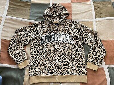 Noon Goons leopard print zip hoodie sweatshirt XL mens NEW