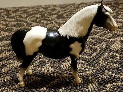 Vintage Breyer Horse Shetland Pony Black White CHRIS HESS Mark
