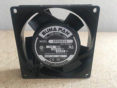 Elina Fan 115vac 5060hz 1312a 2-terminals 90x90x25mm Tube Axial Fan Ep092515