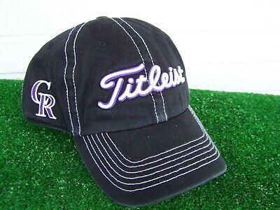 Titleist Colorado Rockies Contrast Stitch Adjustable MLB Team Golf Hat Cap -