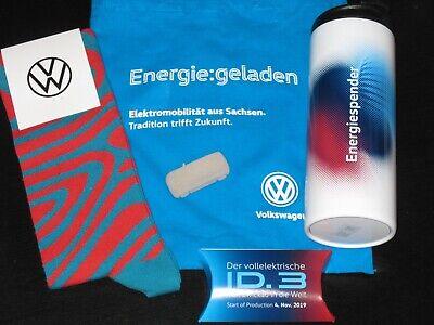 VW ID.3/ID3 Sachsen/Zwickau Presse Set/kit Modell 1:87+Socken+Thermo-Mug/Becher