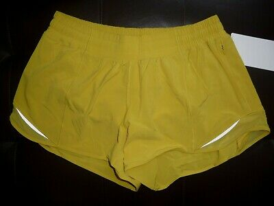 "Lululemon HOTTY HOT LR SHORT 4"" *LINED SOLEIL SZ 8 NWT"