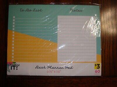 60 Sheet Desk Planner Pad 9.75 X 7.5 New