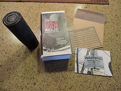 Cold war memorabilia, minuteman missile cable, ICBM, Atlas, WWII, HICS Russia,