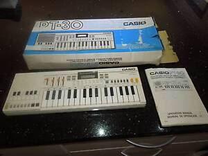 Casio classic vintage PT-30 Mini organ synthesizer with manual. Port Sorell Latrobe Area Preview