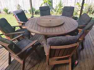 Timber 8 seater table with lazy susan Upper Coomera Gold Coast North Preview