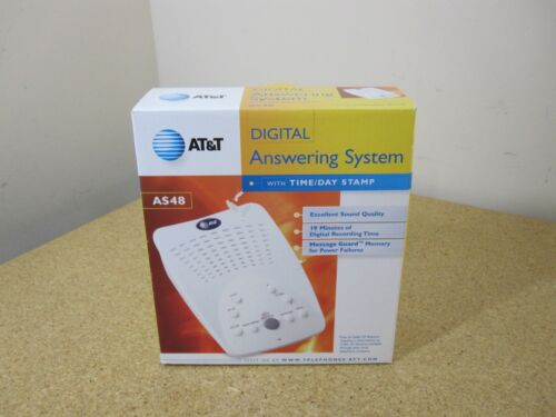 AT&T AS48 Digital Answering Machine With Time/Day Stamp NEW