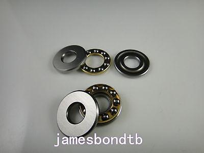 10pcs Axial Ball Thrust Bearing F6-12m 6mm X 12mm X 4.5mm 6 X 12 X 4.5 Mm