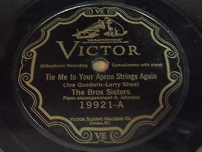 The Brox Sisters: Tie Me To Your Apron Strings Again 78 - Victor (Tie Me To Your Apron Strings Again)