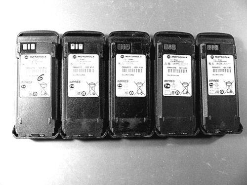 Five Motorola PMNN4077C IMPRES Li-Ion Batteries XPR6000 Series