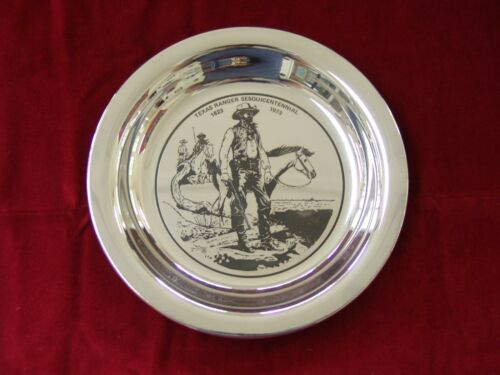 Capt. McNelly, Texas Ranger by Joe Grandee Sterling Silver Commemorative Plate