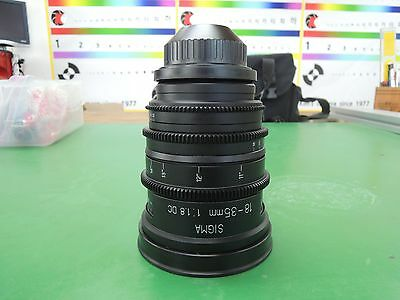 <Order Made> Complete! Ver. Sigma 18-35mm F1.8 DC ART Lens For PL Mount Arri red
