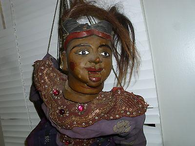 rare RIESIGE- gut 85 cm- Antike Holz Marionette  Burma / Birma / Myanmar