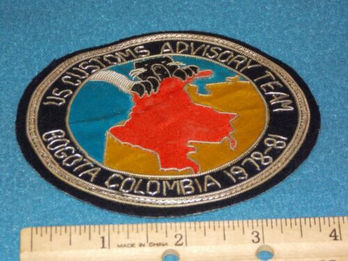 VINTAGE - BOGOTA COLOMBIA 1978-81 BULLION 4 1/4 INCH PATCH