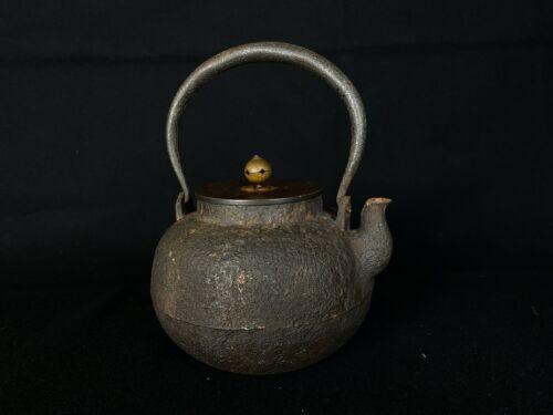 Japanese Antique Tetsubin Choshi Teapot Kettle (b548)