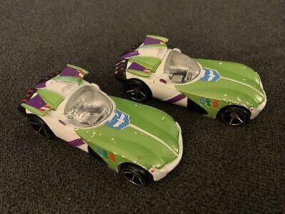 Pair (2x) Hot Wheels BUZZ LIGHTYEAR Toy Story 4 Character Cars - Disney/Pixar