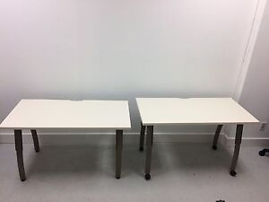 9 mobile or standard tables for sale with adjustable legs