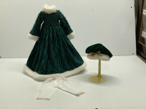 Vintage doll cloths - Winter Outfit- Doll Dress, Hat & Bloomers OUTFIT for 16""