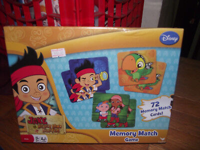BRAND NEW Disney Jake And The Neverland Pirates Memory Match Game 72 Cards](Jake And The Neverland Pirates Game)