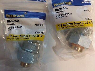 2 Brasscraft Dielectric Union 12 In Nom Sweat X 12 In Fip Wdu1-8-8x P