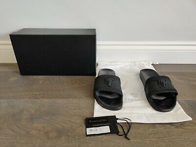 Men's Versace Medusa Sliders Black UK 7