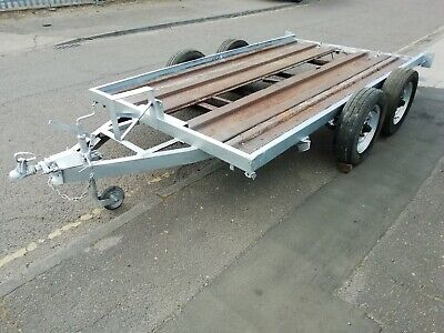Twin axle Car transporter project by Peak trailer for Clio saxo fiesta tractor