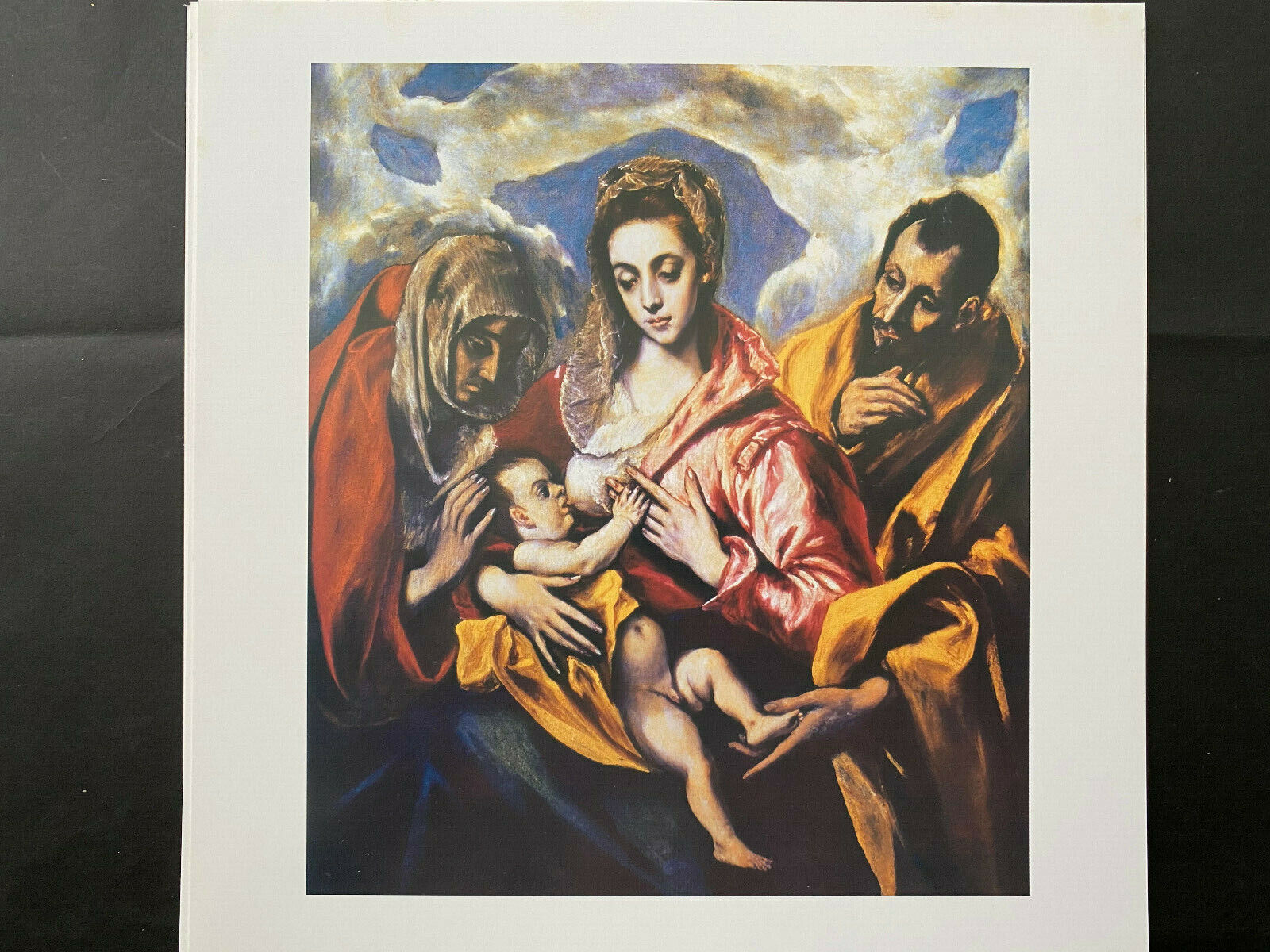 EL GRECO, SAGRADA FAMILIA, 2003, Arte Didactico, Size 10 X 10 , Reverso-datos - $2.99