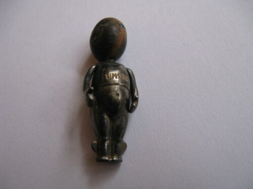 WWI Fumsup Silver Good Luck Touch Wood Charm / Mascot UK w/ Serial Number