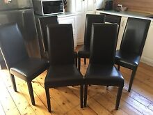6 Leather Dining Chairs Moonee Ponds Moonee Valley Preview