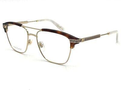 Neu Gucci Gg 0241O 001 Havanna Gold Authentisch Brille Rahmen 54mm - Neu