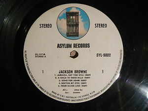 JACKSON-BROWN-SELF-TITLED-LP-VINYL-RECORD-VG-CONDITION-NO-COVER