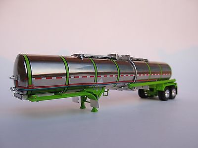DCP 1/64 SCALE BRENNER CHEMICAL TANKER  POLISHED TANK WITH LIME GREEN SUSPENSION