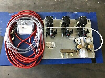 New 66134-3a Perlick 3 Product Beer Pump Panel W Vent Kit And Drop Lines