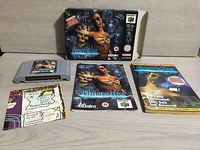 N64 Nintendo 64 PAL game Shadow Man - Complete with manual, guide book and map