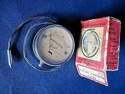 Vintage Hoyt 1 Ammeter Pocket Meter With Box - Works
