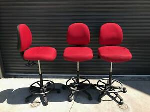Red telescopic bench chairs, Gregory brand [236] Braybrook Maribyrnong Area Preview