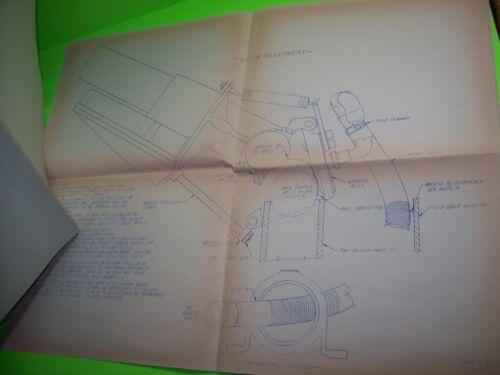 BOOM BALL Original Boardwalk Amusement Arcade Game Large Blueprint Diagrams